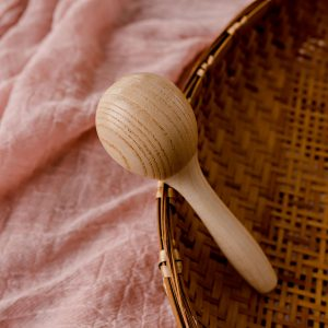 babys first wooden rattle